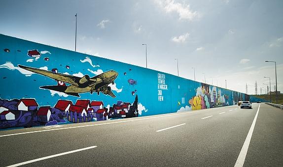 Filli Boya'nın Desteğiyle İstanbul Havalimanı'nda Grafiti Çalışması